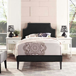 Conner Twin Platform Bed With Squared Tapered Legs Black Frames Free Shipping