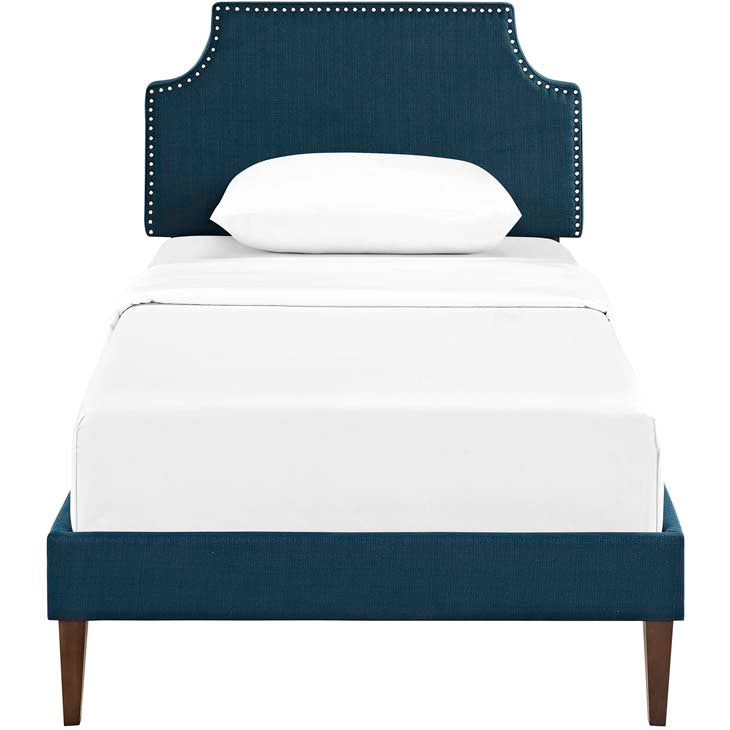 Conner Twin Platform Bed with Squared Tapered Legs - living-essentials