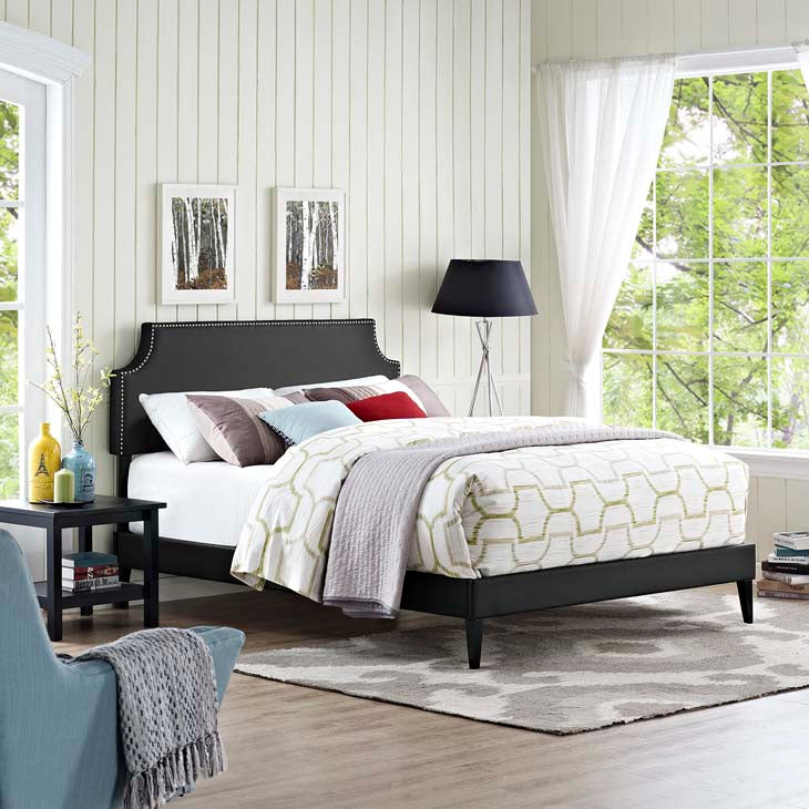 Conner Queen Platform Bed with Squared Tapered Legs - living-essentials