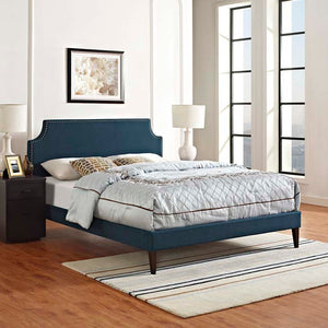 Conner King Platform Bed With Squared Tapered Legs Azure Frames Free Shipping