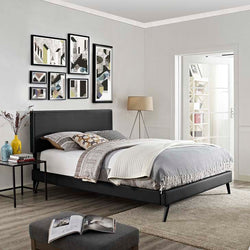 Macey Full Platform Bed with Round Splayed Legs - living-essentials