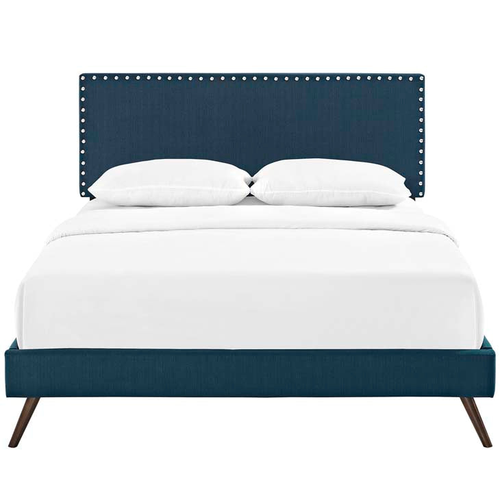 Macey Twin Platform Bed with Round Splayed Legs - living-essentials