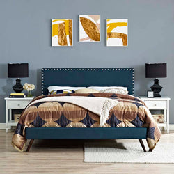 Macey Queen Platform Bed with Squared Tapered Legs - living-essentials