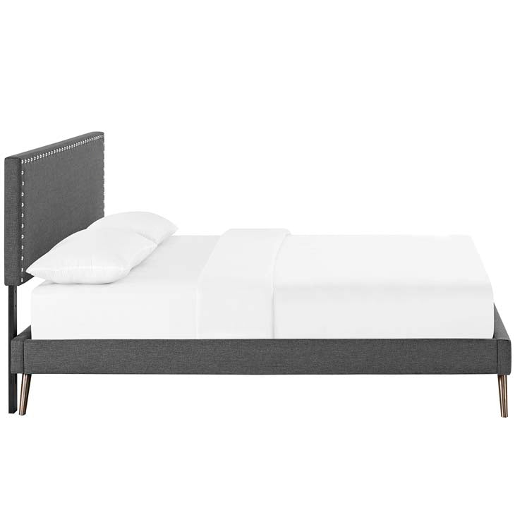 Macey Twin Platform Bed with Squared Tapered Legs - living-essentials