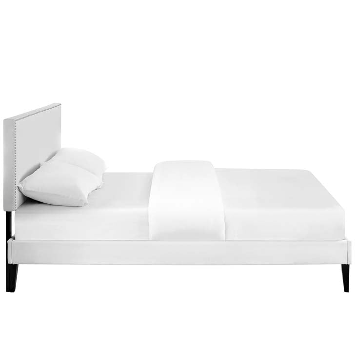 Macey King Platform Bed with Squared Tapered Legs - living-essentials
