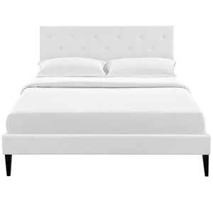 Tamia King Platform Bed With Squared Tapered Legs