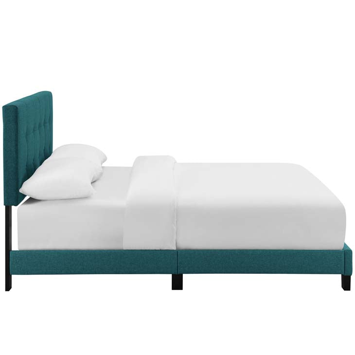 Amia Twin Upholstered Fabric Bed - living-essentials