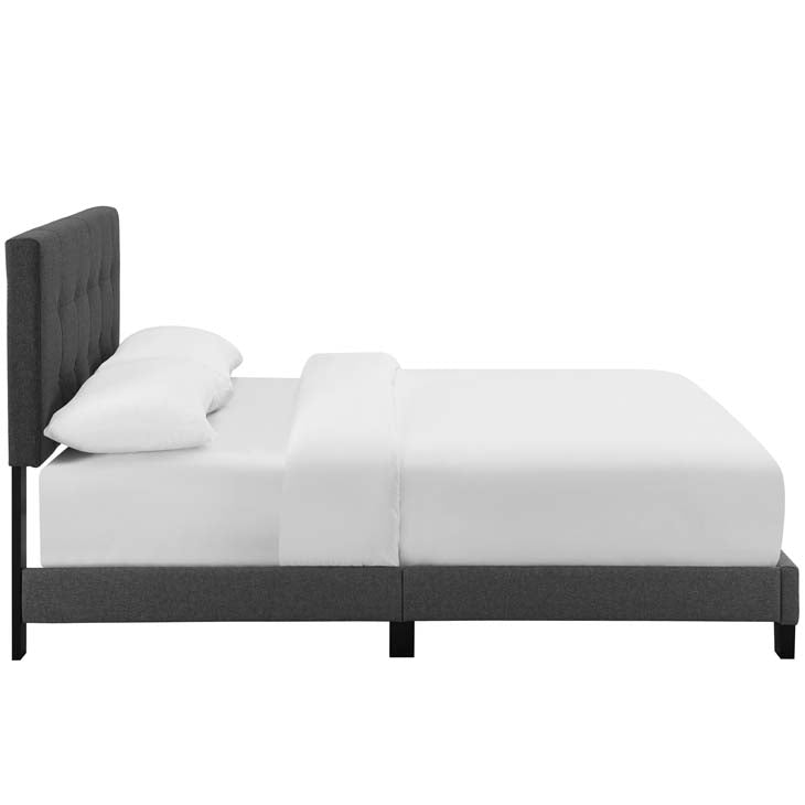 Amia Full Upholstered Fabric Bed - living-essentials