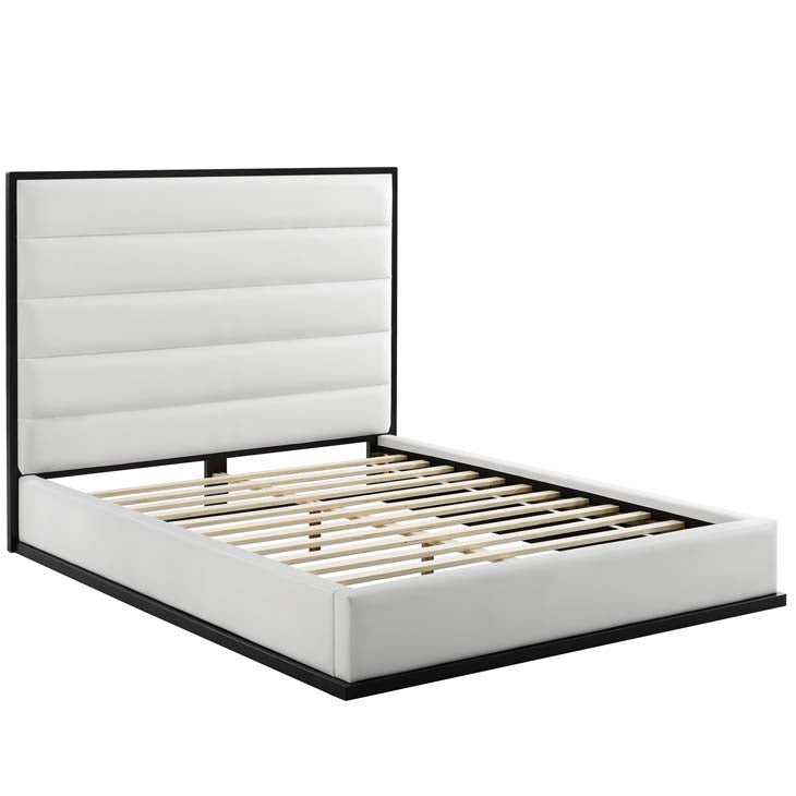Ironton Queen Faux Leather Platform Bed - living-essentials