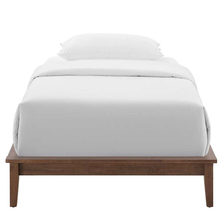 Lodge Twin Wood Platform Bed Frame - living-essentials