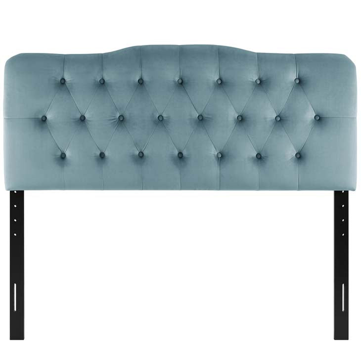 Abigail Diamond Tufted Velvet King Headboard - living-essentials
