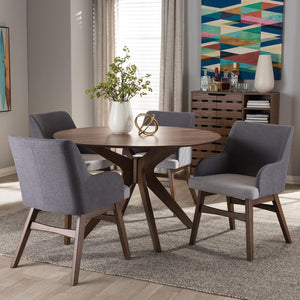 Montreal Mid-Century Round 5-Piece Dining Set Free Shipping