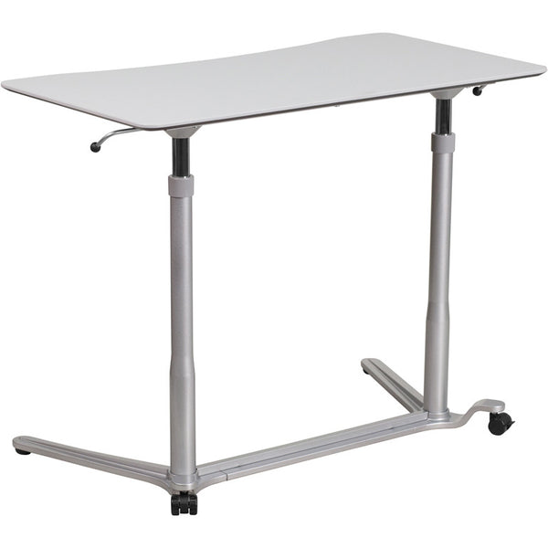 Zoe Standing Adjustable Light Gray Laptop Desk - living-essentials