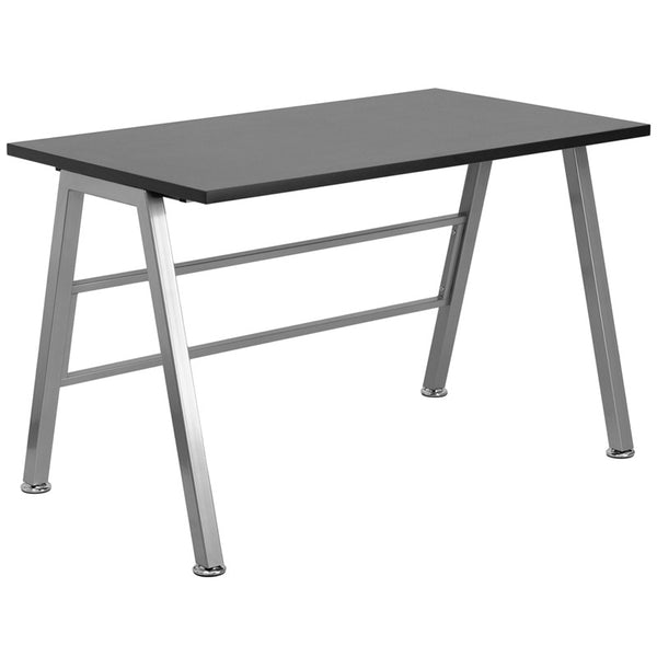 Iris Black Aluminum Writing Desk - living-essentials