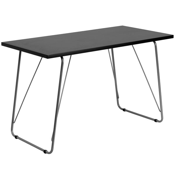 Nikki Black/White Aluminum Writing Desk - living-essentials