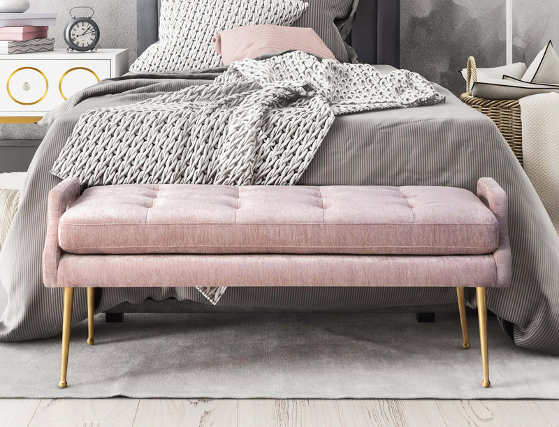 Eileen Slub Velvet Bench - living-essentials