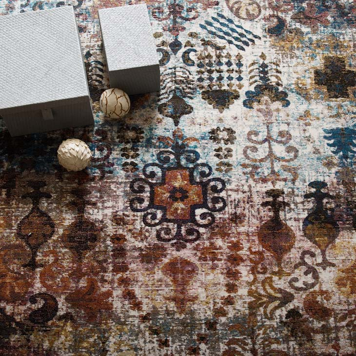 Victory Tahira Transitional Distressed Vintage Floral Moroccan Trellis 8x10 Area Rug - living-essentials