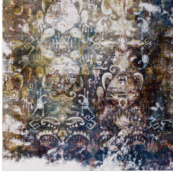 Victory Jayla Transitional Distressed Vintage Floral Moroccan Trellis 8x10 Area Rug - living-essentials