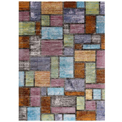 Victory Nyssa Abstract Geometric Mosaic 4x6 Area Rug - living-essentials