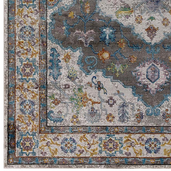 Success Anisah Distressed Vintage Floral Persian Medallion 4x6 Area Rug - living-essentials