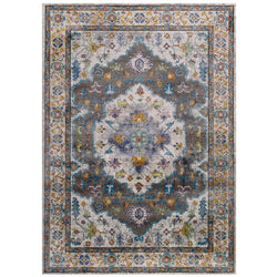 Victory Anisah Distressed Vintage Floral Persian Medallion 8x10 Area Rug - living-essentials