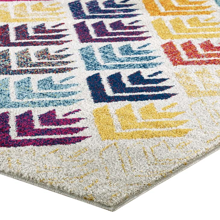 Entourage Florin Abstract Floral 5x8 Area Rug - living-essentials