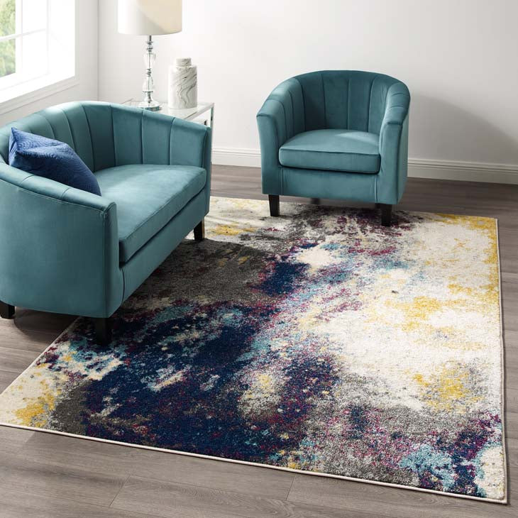 Entourage Adeline Contemporary Modern Abstract 5x8 Area Rug - living-essentials