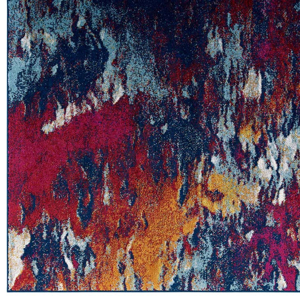 Entourage Foliage Contemporary Modern Abstract 5x8 Area Rug - living-essentials