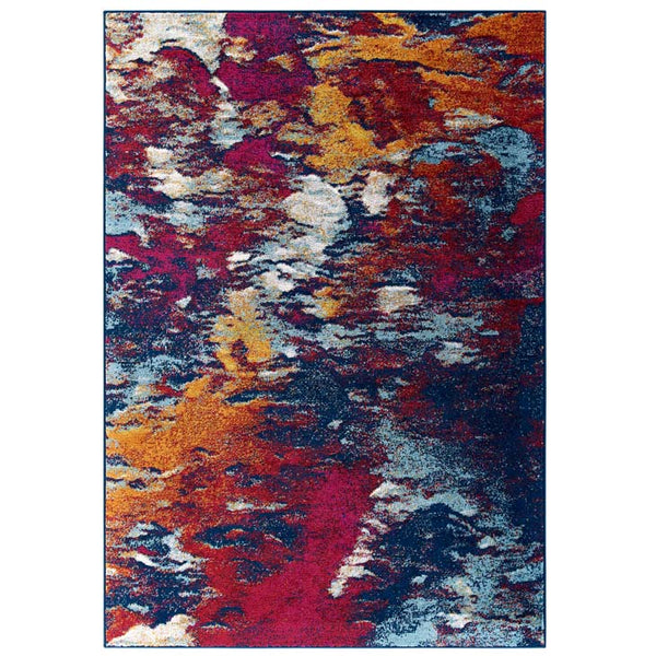 Entourage Foliage Contemporary Modern Abstract 8x10 Area Rug - living-essentials