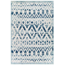Reveal Tamako Distressed Vintage Diamond and Chevron Moroccan Trellis 8x10 Indoor and Outdoor Area Rug - living-essentials
