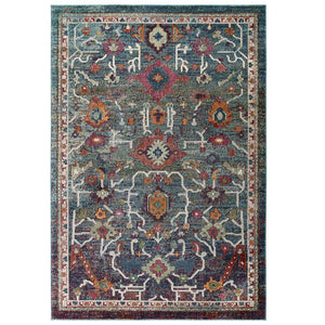 Testimonial Every Distressed Vintage Floral 5x8 Area Rug