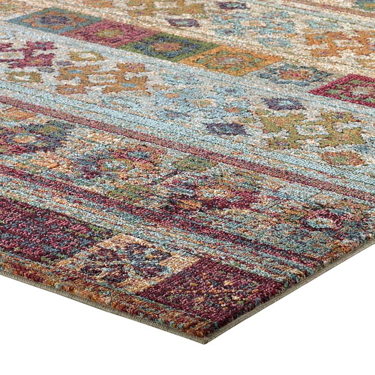 Testimonial Nala Distressed Vintage Floral Lattice 8x10 Area Rug - living-essentials