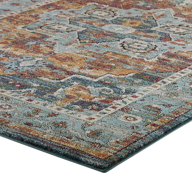 Testimonial Diantha Distressed Vintage Floral Persian Medallion 5x8 Area Rug - living-essentials