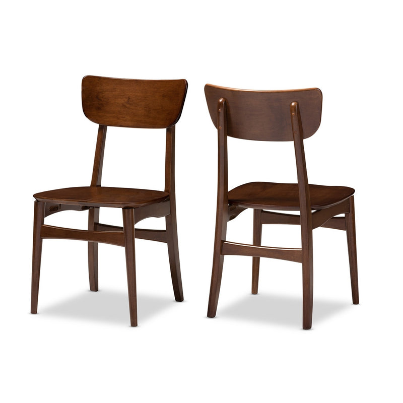 Amsterdam Mid-Century Bentwood Dining Side Chair Set of 2 - living-essentials
