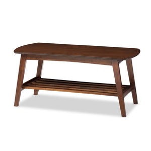 Golden State Dark Walnut Coffee Table Free Shipping