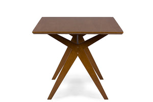 George Mid-Century Walnut Brown Dining Table Free Shipping