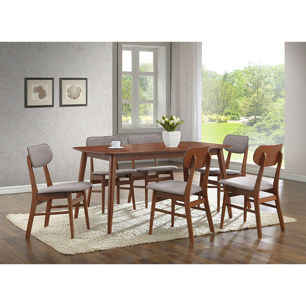 Golden State Dark Walnut Wood 7Pc Dining Set - living-essentials