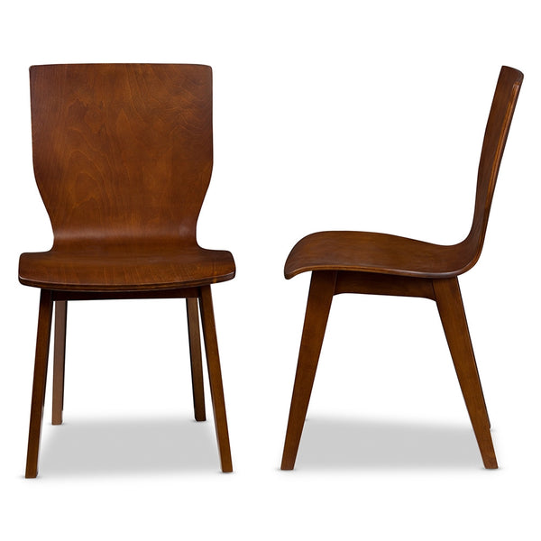 Eva Mid-Century Dark Walnut Bent Wood Dining Chair - living-essentials