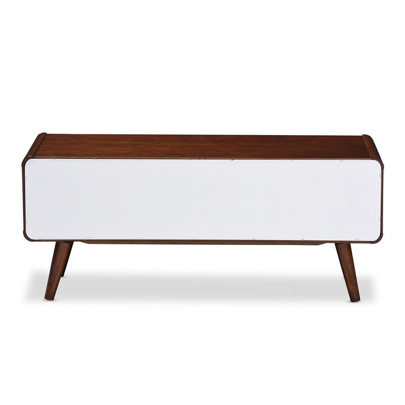 Alston Mid-century Two-tone Finish Wood TV Stand - living-essentials