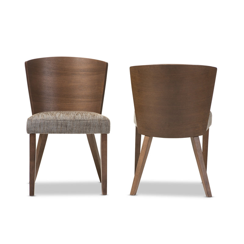Davey Brown Wood Modern Dining Chair (Set of 2) - living-essentials