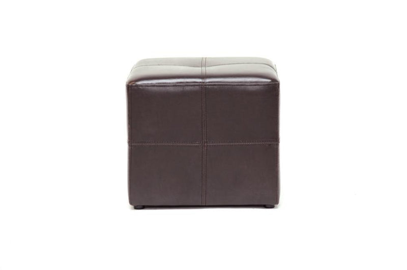 Niko Dark Brown Ottoman - living-essentials