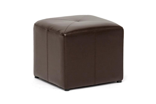Axel Bonded Leather Ottoman - living-essentials
