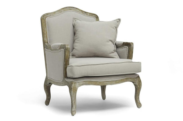 Clancy Classic Antiqued French Accent Chair - living-essentials