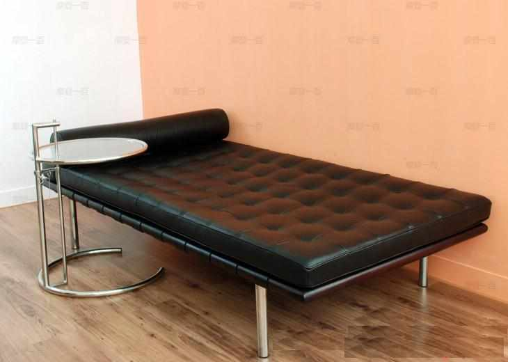Barcelona Style Daybed Top Grain Italian Leather / Black Benches U0026 Daybeds  Free Shipping