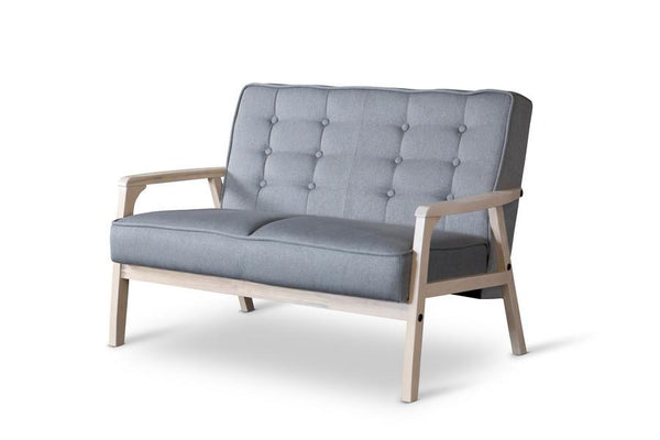 Alex Mid-Century Gray Loveseat - living-essentials