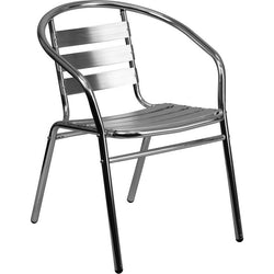 Lucy Aluminum Indoor/Outdoor Stackable Restaurant Chair - living-essentials