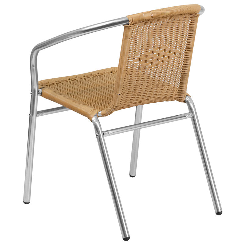 Bonnie Aluminum Rattan Indoor/Outdoor stackable Restaurant Chair - living-essentials