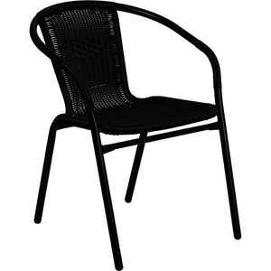 Ronny Rattan Indoor/outdoor Stackable Restaurant Chair Black Dining Chairs Free Shipping