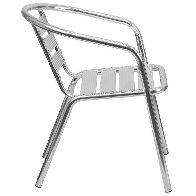 Lucas Heavy Duty Aluminum Indoor/Outdoor Stackable Restaurant Chair - living-essentials