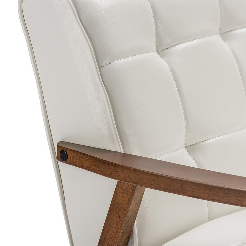 Waylon White Mid-Century Masterpiece Club Chair - living-essentials